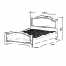 Кровать Алиса1,2х2,0