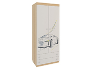 Шкаф комбинированный Форсаж 2-створчатый
